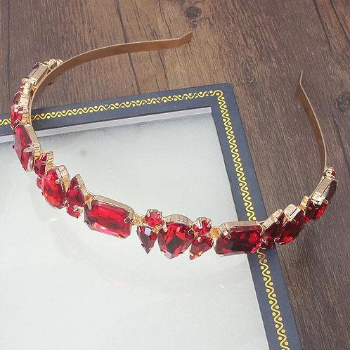 Abi Headband Red