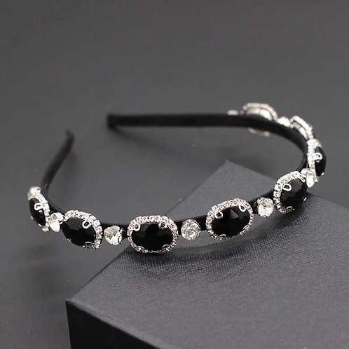 Eva Headband Black/Silver