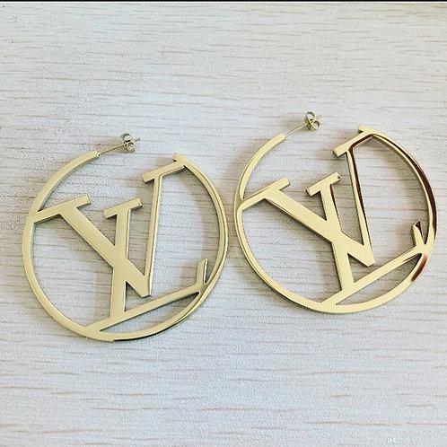 LV Hoop Earrings Gold/Silver