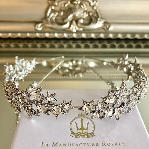 Darla Star Crown/Tiara Silver
