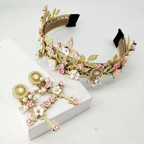Darcia Headband Set Pink