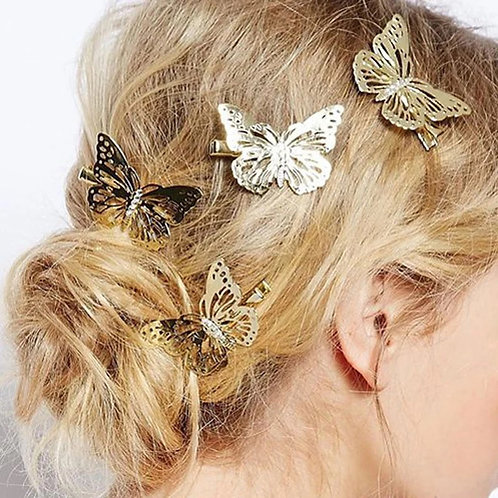 X6 Butterfly Clips Gold