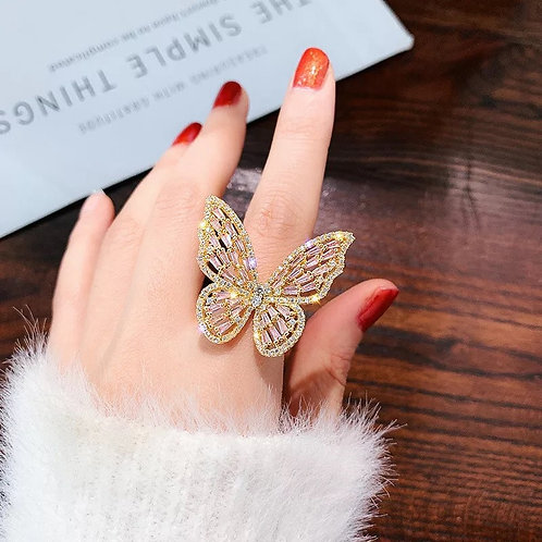 Butterfly Ring Silver