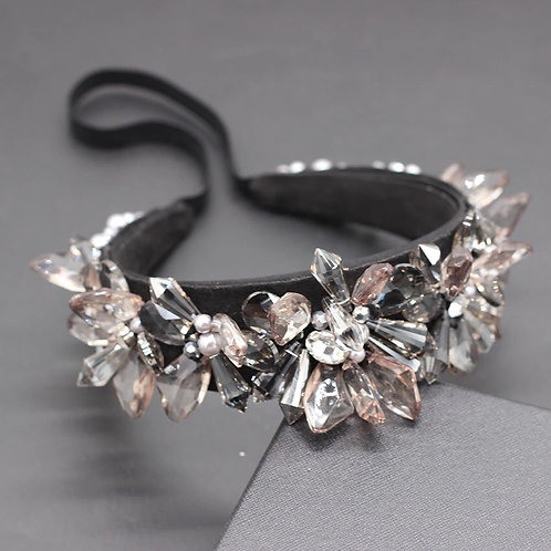 Tirana Flower Headband Black