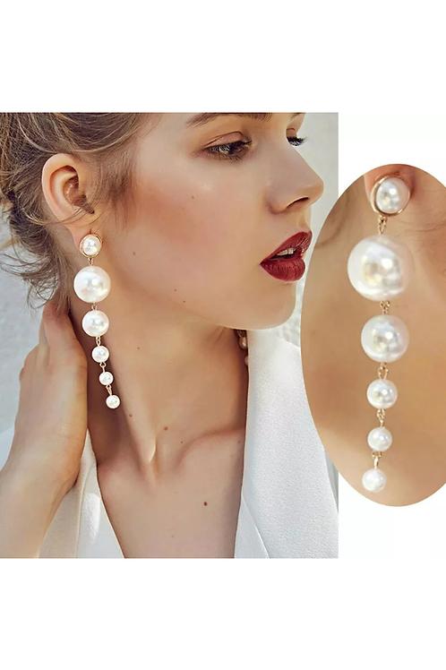 Drop Earrings Ivory White Cream