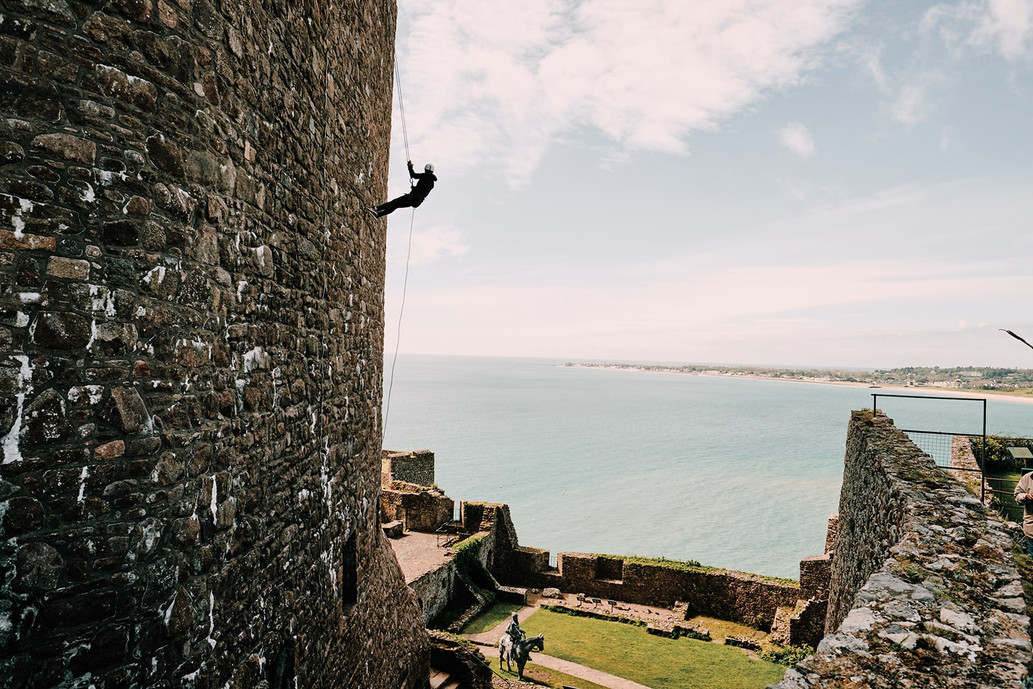 Abseiling in Jersey - Mont Orgueil