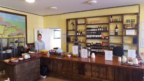Jersey Hostel Breakfast counter