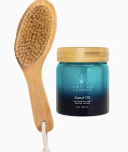 Dry Brush/Coconut Oil Kit