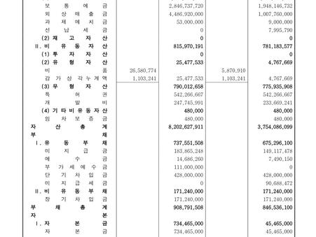 Wayne Hills / 2021.1~2Q Finance Summary