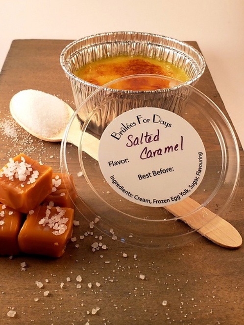 Salted Caramel Crème Brûlée (frozen)