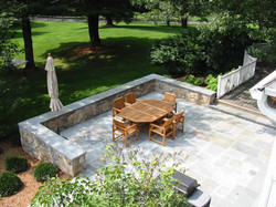 New Dining Terrace with Seatwall