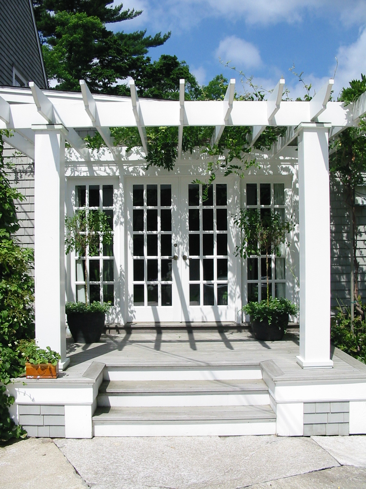 Pergola over Rear Entry