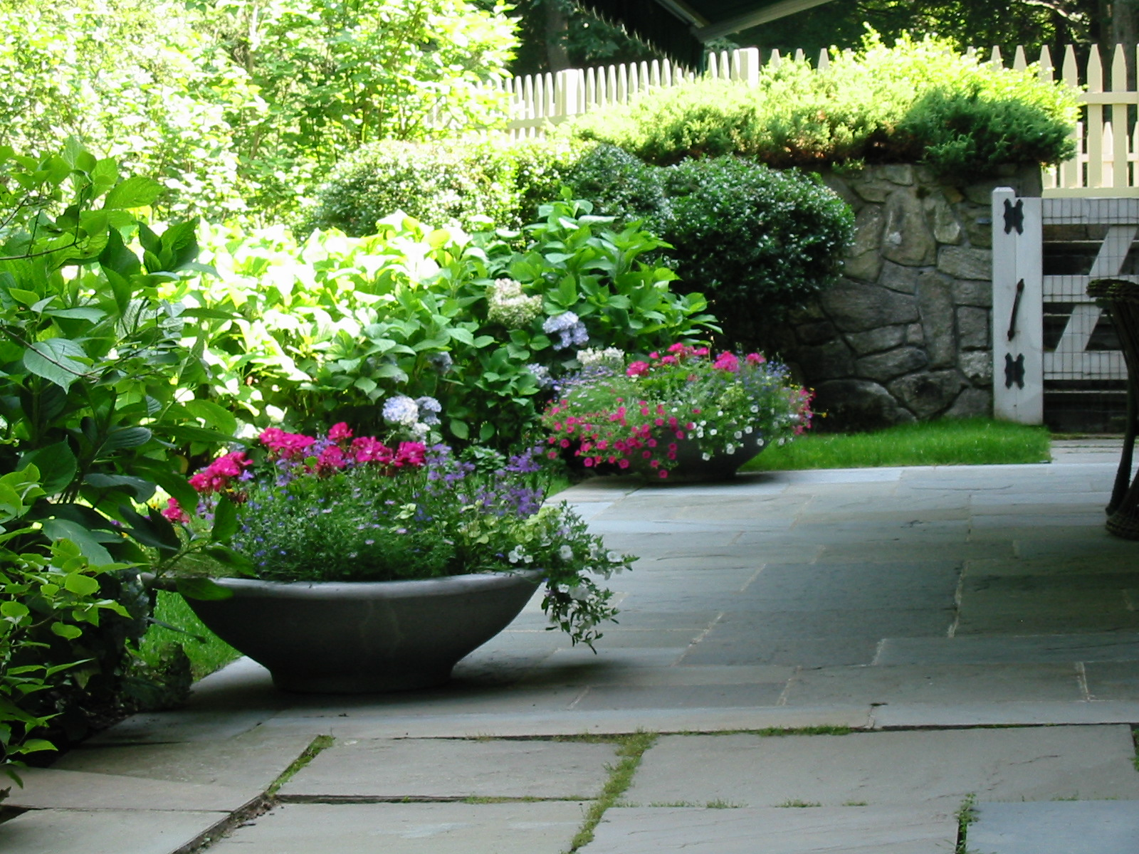 Rear Terrace with Planters