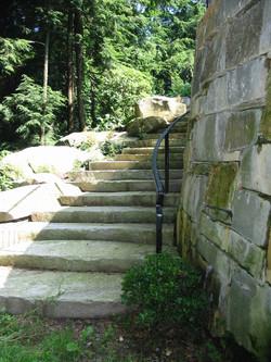 Granite Steps with Handrail