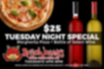 $25 Margherita Pizza + Bottle of Wine at Rotten Johnny's Pizza Pie in Sedona, AZ