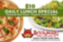 $10 Personal-sized Pizza + an Organic Greens Salad from 11am-2pm at Rotten Johnny's Pizza Pie in Sedona, AZ