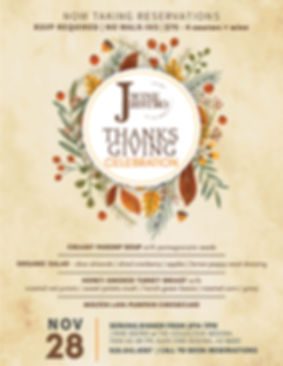 Thanksgiving Dinner Service at J Wine Bistro | Sedona, AZ | $75pp fo Four Course Menu including Wine