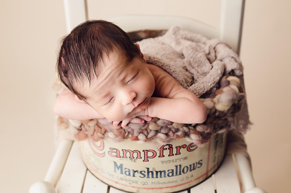 newborn photography, newborn baby, newborn photographer, newborn pictures, vintage baby, campfire marshmallow