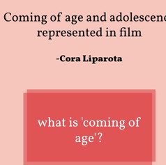 Coming of Age - in Film