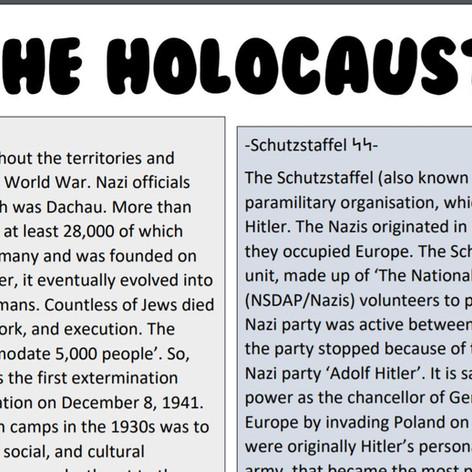 The Holocaust - a story