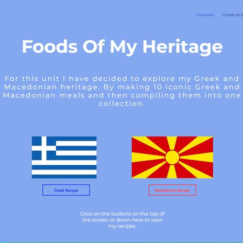 Foods Of My Heritage