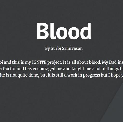 Blood - a website