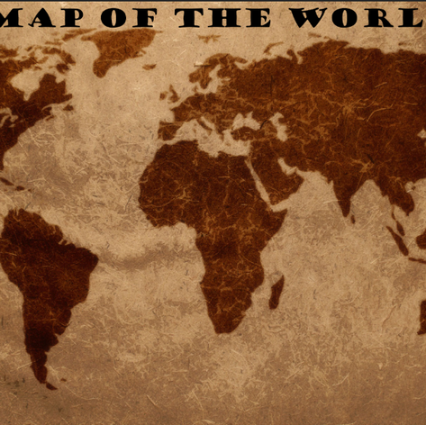 A freehand Map of the World