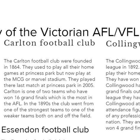 History of AFL/VFL