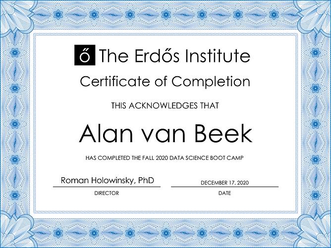 Alan Van Beek