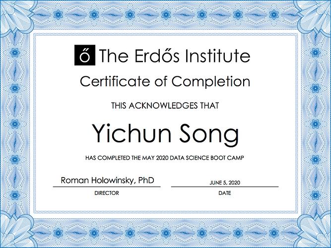 YichunSong