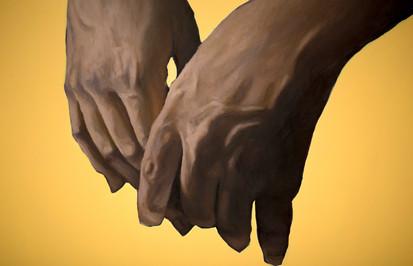 Carlene's Hands Resting (Detail)