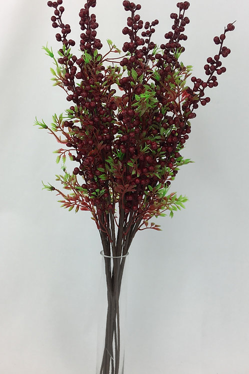 Red Berry Stem 68cm H