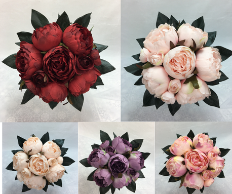 Dusty Peony Flowers Pre-made Bouquet