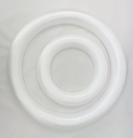 Polystyrene Wreath Round Edge