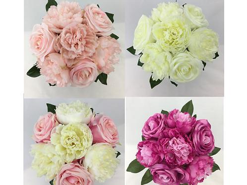 Long Stem Rose/Peony Flower Pre-made Bouquet.
