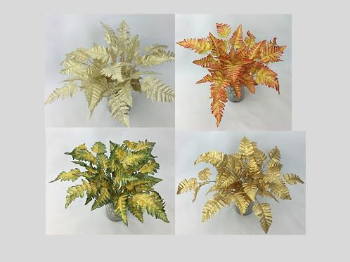 10pcs Artificial Gold Fern Leaves.