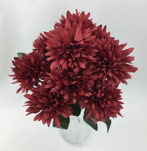 Chrysanthemum Ball 9 Stems Flower Bunch