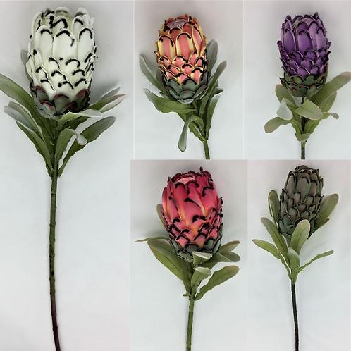 Artificial Protea Flower Stem 73 cm