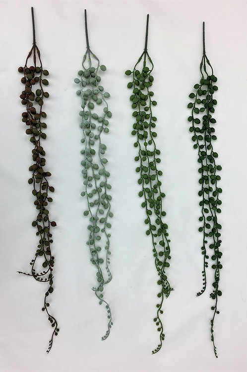 Artificial Hanging Plants Succulent String of Pearls Vine Green Decor 70 cm Long