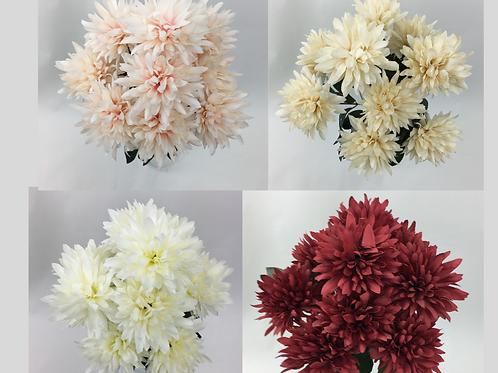 Artificial Flower Chrysanthemum Ball 9 Stems Flower Bunch.
