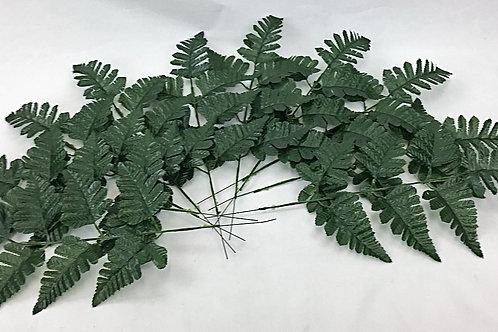 10 X Artificial Leaf Green Fern Leaves