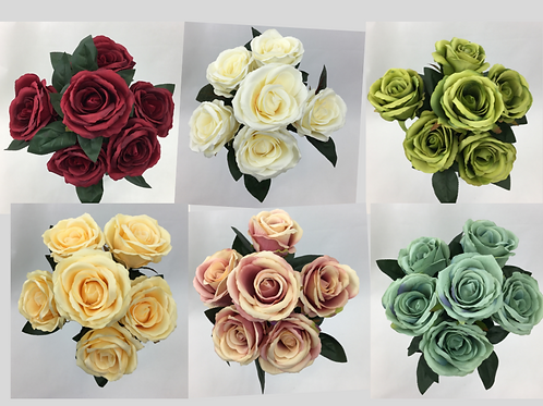 Artificial Flower Dusty Rose Bunch/6