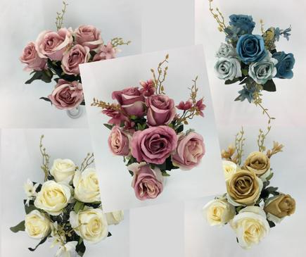 Dusty Rose Flowers Bunch