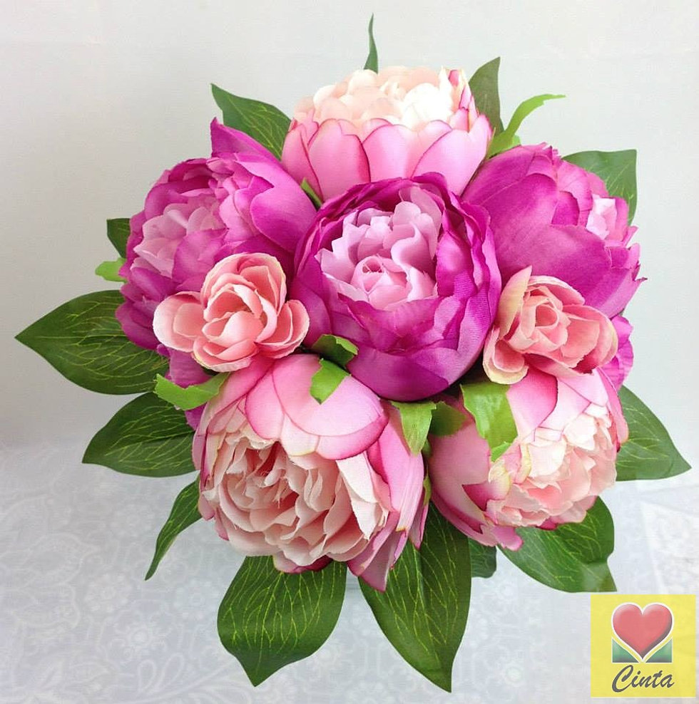 Cintahomedeco silk flower bushes hot pink pink peony rose posy artificial silk flower wedding bouquet b dhlflorist Images