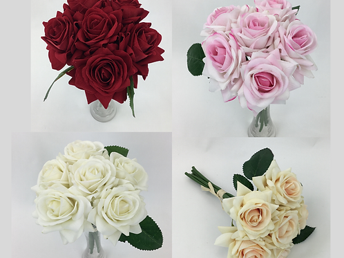 Artificial Flower Rose X 6