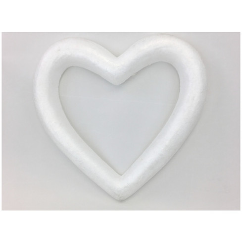 Polystyrene Open Heart Wreath