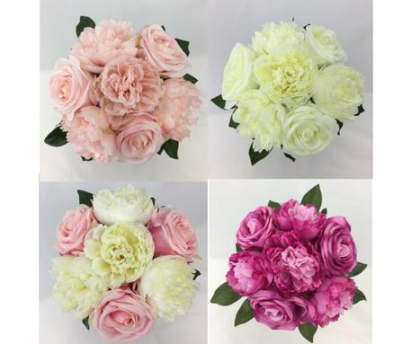 Long Stem Rose/Peony Flower Pre-made Bouquet