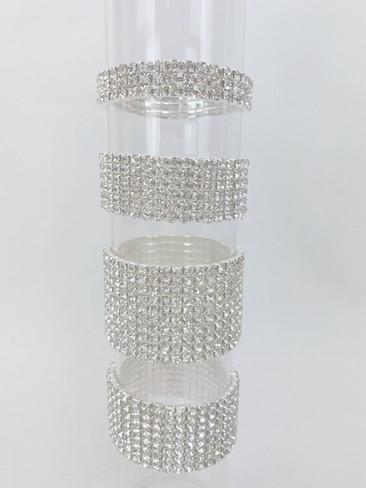 Corsage Wrist Bracelet Diamante