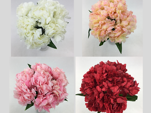 7 Heads Artificial Silk Carnation Flowers
