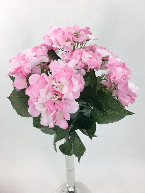 Artificial Silk Pink Hydrangea Flowers Bush